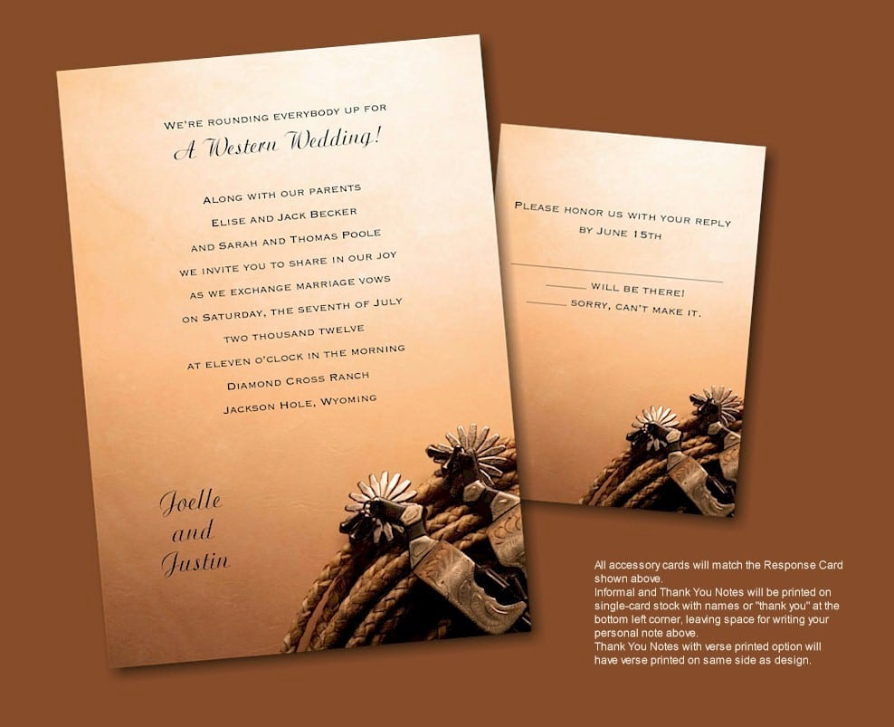 Western Antique Wedding Invitation Templates Free 2