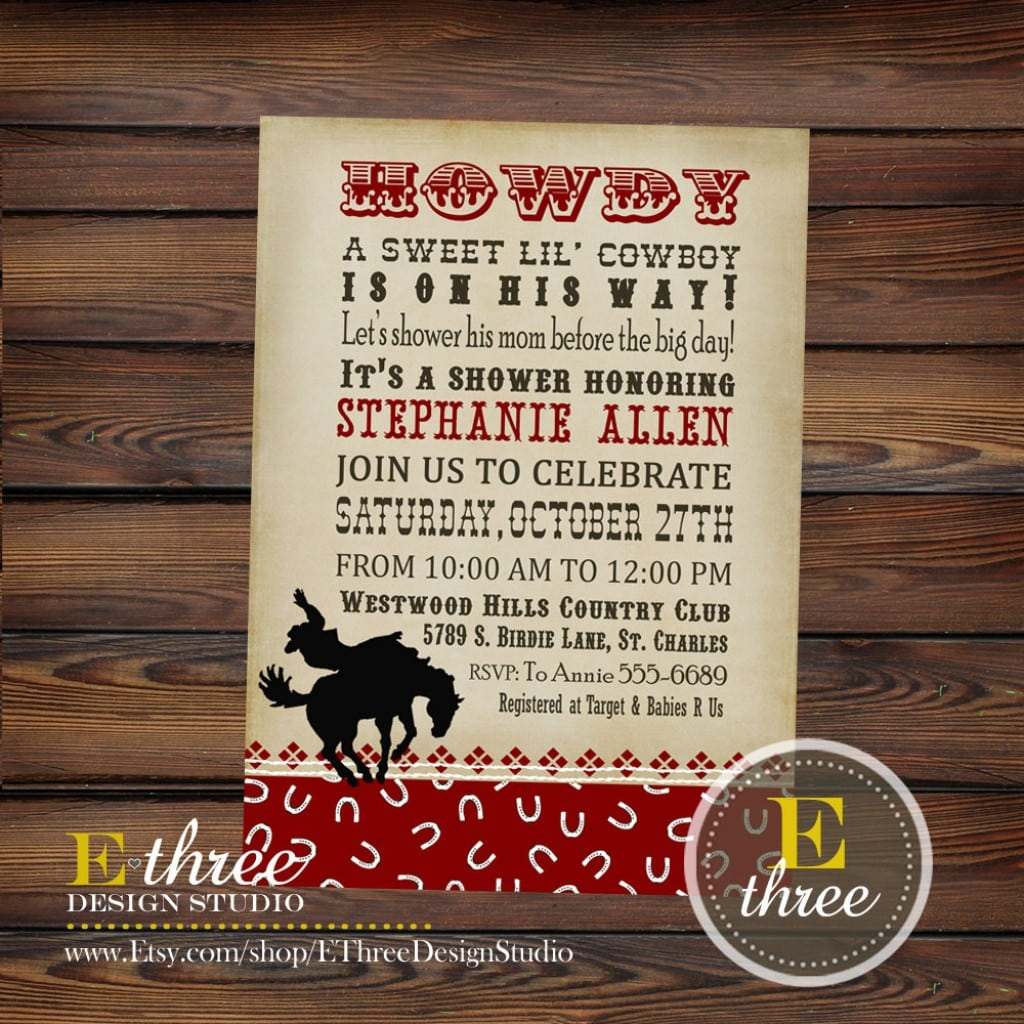 Western Antique Wedding Invitation Templates Free 3