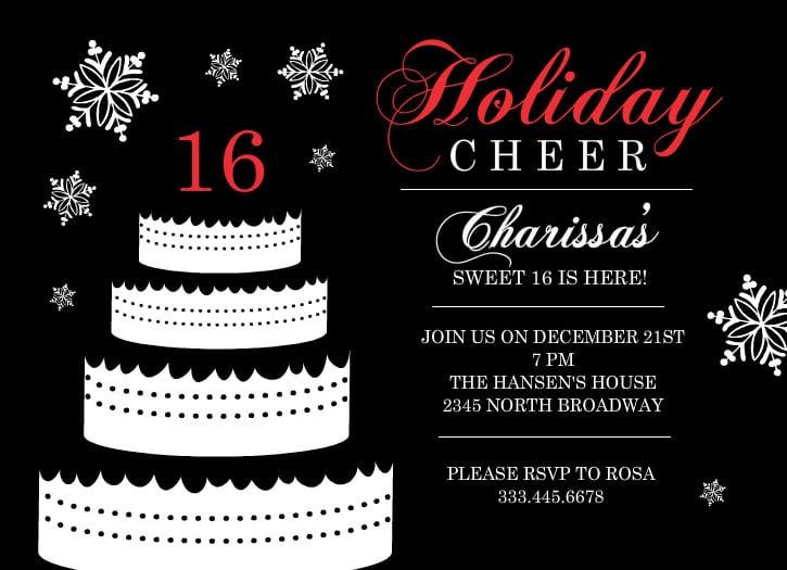 16th Party Invitation Templates