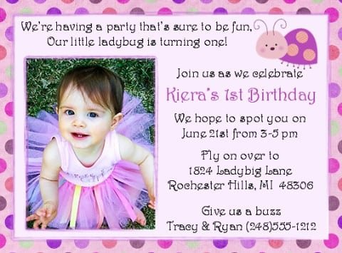 1st Bday Invitations Free