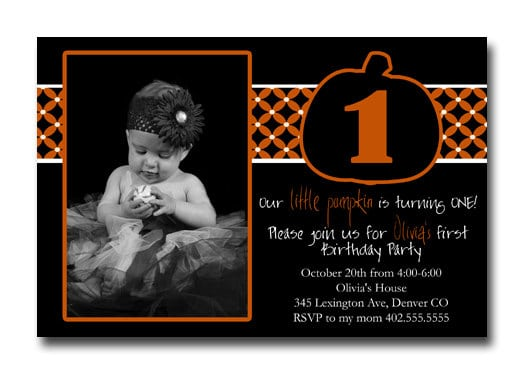 1st Birthday Halloween Invitations Uk