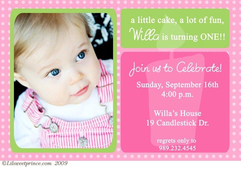 1st Birthday Invitation Pictures