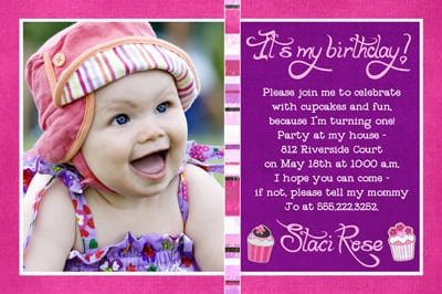 1st Birthday Invitations Girl