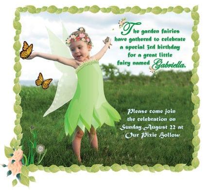 1st Birthday Invitations Thinkerbell