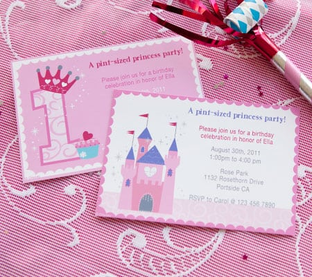 1st Birthday Princess Invitation Templates Free