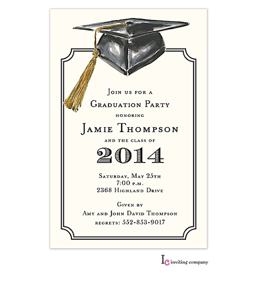 2014 Grad Party Invitation Templates