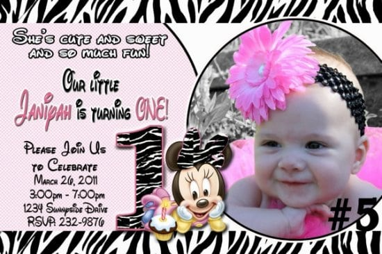 2014baby Minnie Mouse Template Invitationsbaby Minnie Mouse Printable Invitations