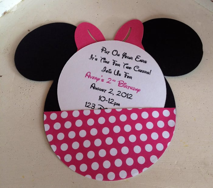 2014free Minnie Mouse Invite Template