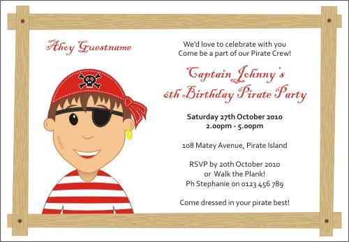 2014free Pirate Invitation Template