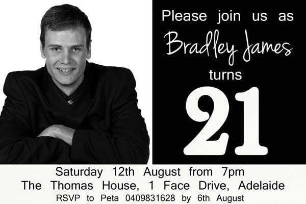 21st Invitation Templates Australia