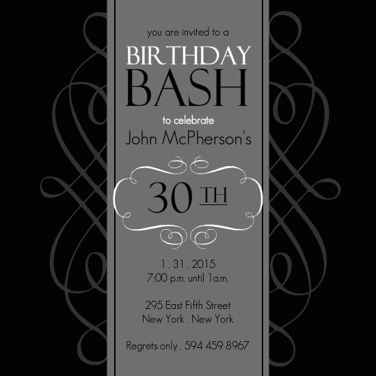 office birthday invitation template – 50th Birthday Invitation Template Free