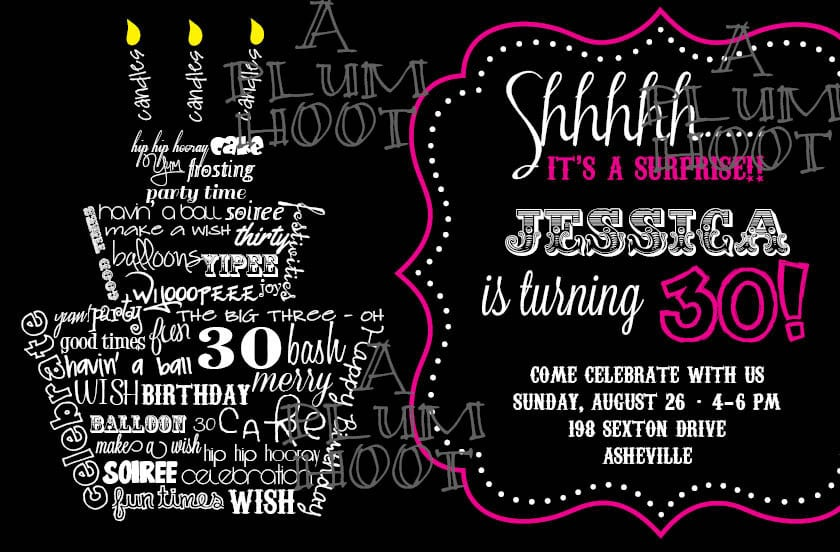 30th Birthday Invite Templates