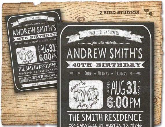 30th Birthday Party Invite Men