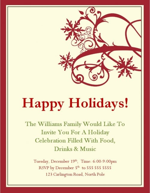 39;s Christmas Party Invitation Templates Free