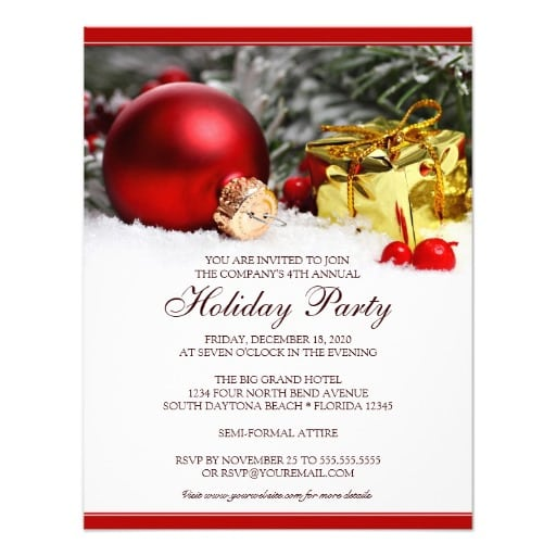 39;s Christmas Party Invitations Templates