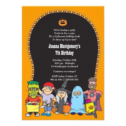 39;s Halloween Birthday Invitations