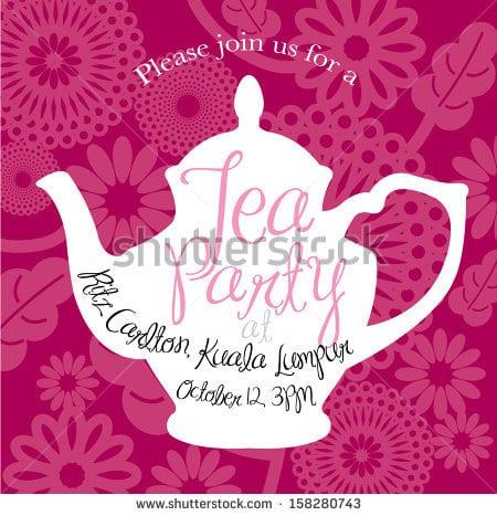 39;s Tea Party Invitation Template