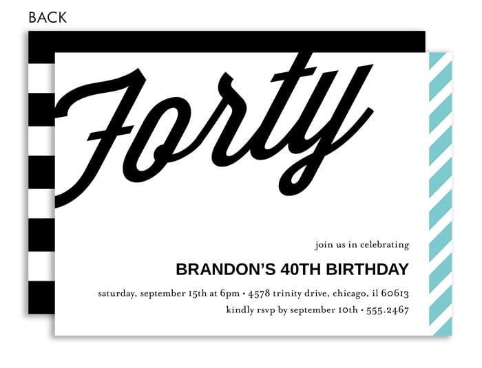 40 Th Pirate Birthday Invitations