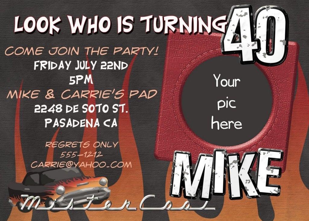 40th Birthday Invitation Templates