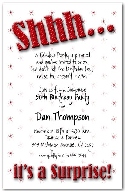 40th Birthday Invitation Templates Free Uk