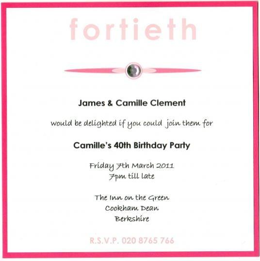 40th birthday invitations templates stopboris Images