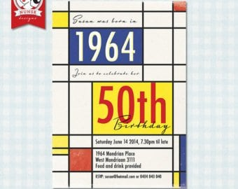 50 Year Old Birthday Party Invitations