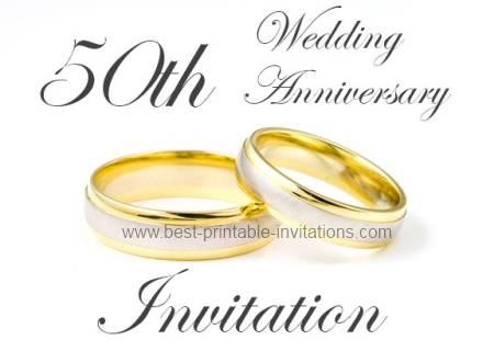 50th Wedding Anniversary Invitations Printable