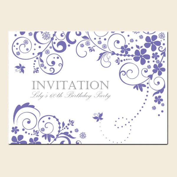 60 Birthday Invitations Uk