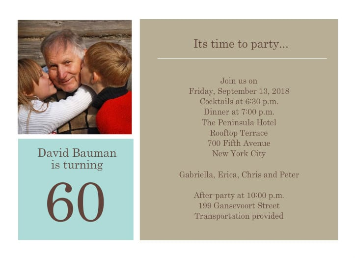 60th Birthday Invitation Templates To Download