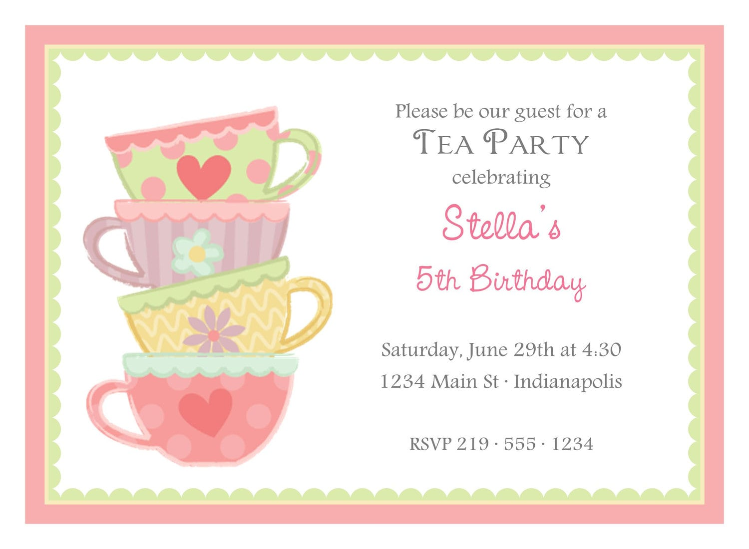 Afternoon Tea Party Invites