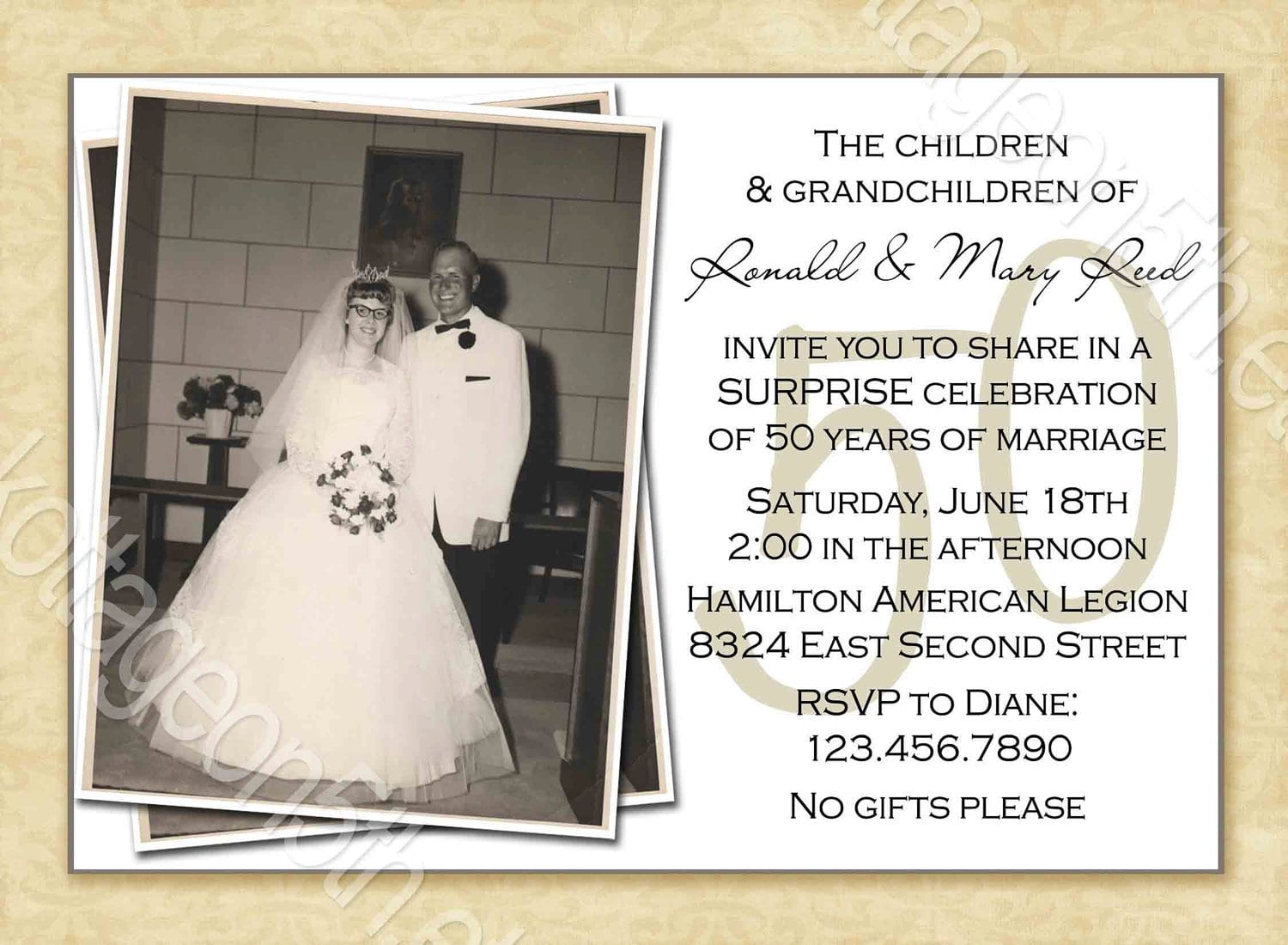 Free 60th Wedding Anniversary Invitation Templates
