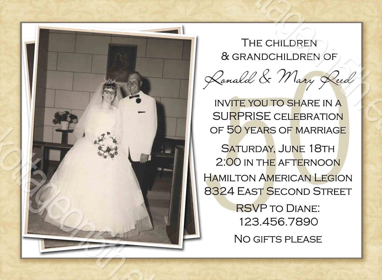 50th wedding anniversary card templates – 50th Wedding Anniversary Invitation Templates Free