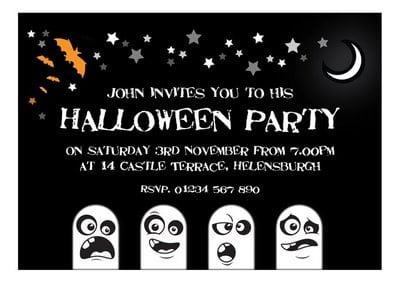 Printable Halloween Party Invitation Templates