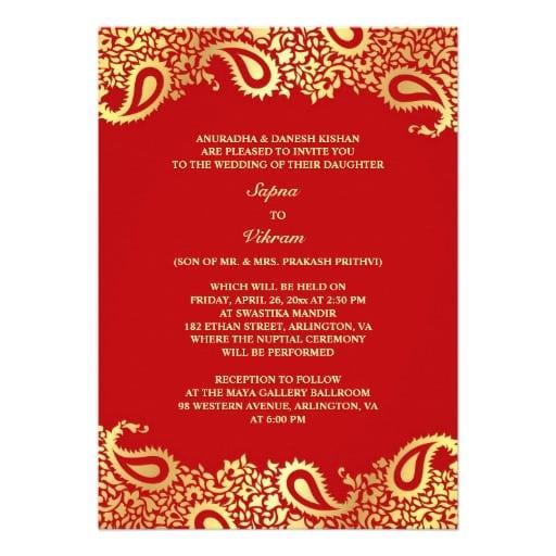 India Invitation Templates