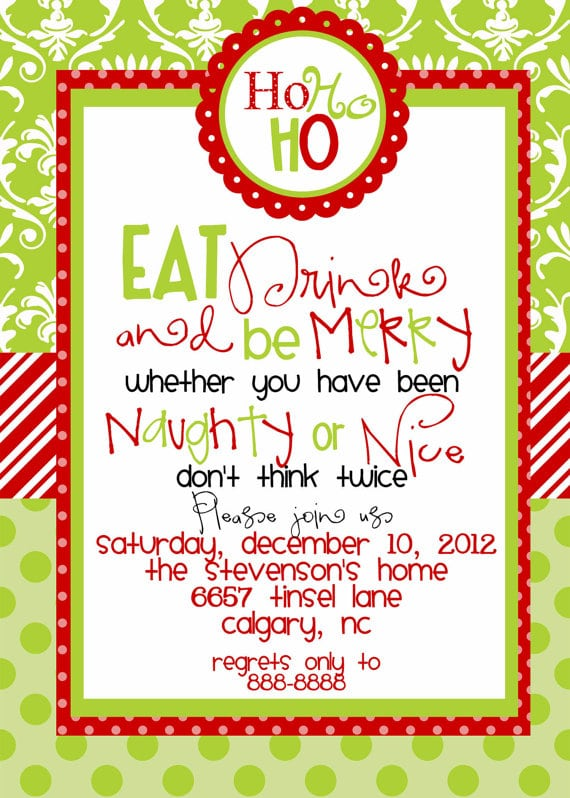 After Christmas Party Invitations