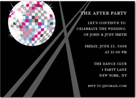 After Party Invitations
