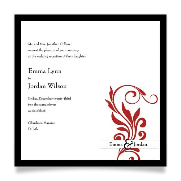 After Wedding Party Invitations Wording
