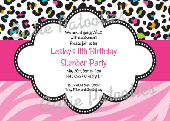 Animal Print Birthday Invitations Free Printable