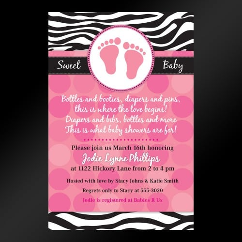 Animal Print Invitations Baby Shower