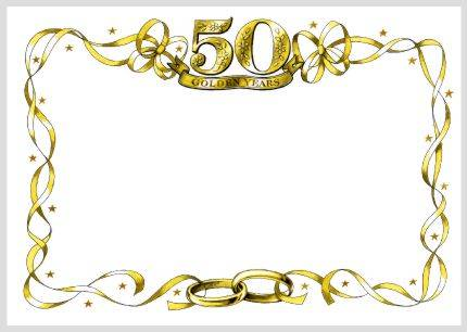 Anniversary Invitations Templates 50th