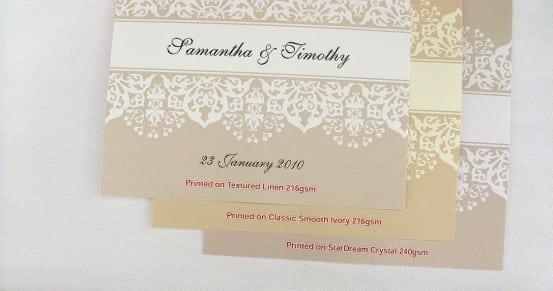 Antique Wedding Invitations Australia