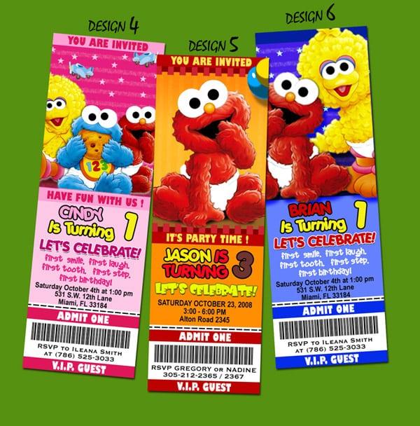 Baby Elmo Party Invitations