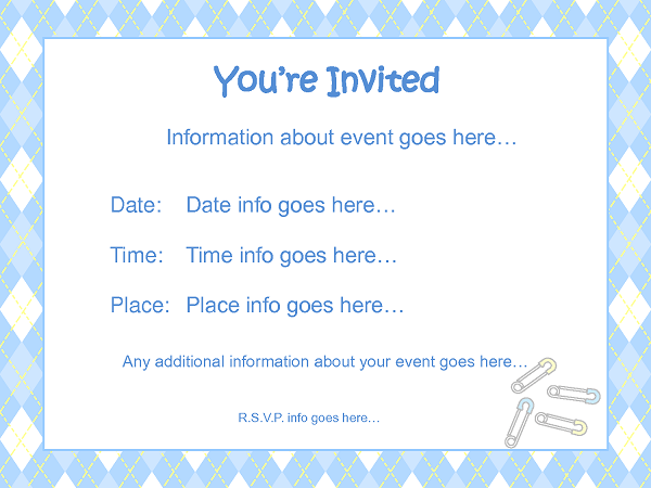 Baby Invitation Templates Word