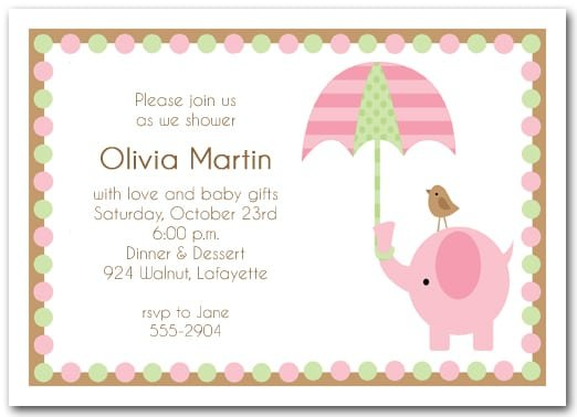 Baby Invitations For Girls
