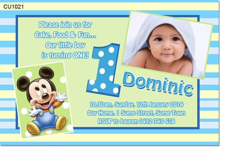 Baby Mickey Invitation Template