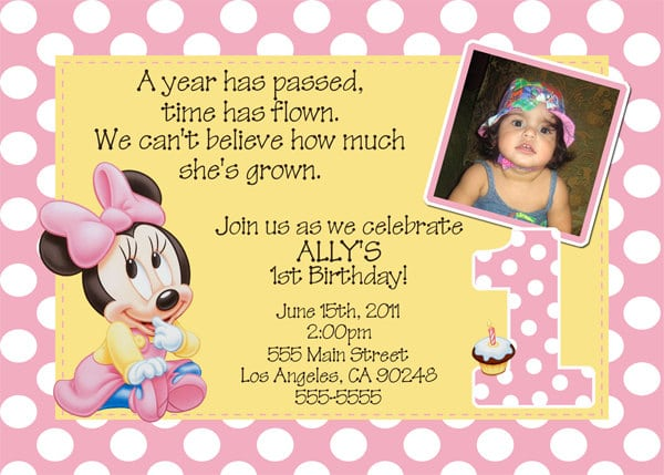 Baby Minni Invitations