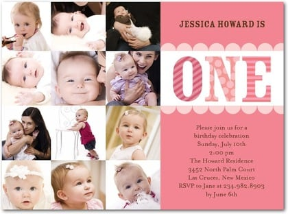 Baby Party Invitations First Birthday