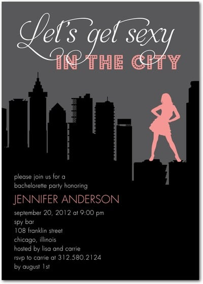 Bachelorette Invitations Party City