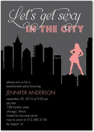 Bachelorette Invitations Party City