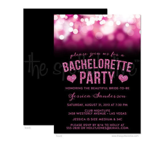 Bachelorette Invitations Printable